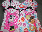 GIRLS DORA THE EXPLORA MINNIE MOUSE TOWELLING ROBE & SWIMMING COSTUME AGE 5 NEW