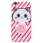 Squishy 3D Soft Silicone Cat Bear TPU Phone Case Cute Cover iPhone 5 6S 7 8 Plus