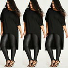 Plus Size XL-5XL Womens Casual Loose Short Sleeve Black Shirt Blouse Tops Dress