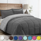 3 Piece All-Season Reversible Down Alternative Hypoallergenic Comforter Set image