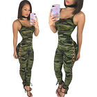 Sexy Ladies Deep V Neck Summer Playsuit Bodycon Party Jumpsuit Romper Trousers