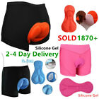 NEW- Men Women Shorts Bike Bicycle underwear Sponge Gel Silicone Padded