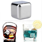 5/10Ps Lot Stainless Steel Ice Freezer Wine Stone Whiskey Beer Cooler Club Bar