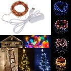10M 100 Waterproof USB LED Fairy String Copper Wire Holiday Light with Switch fo