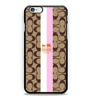 HOT New-Coach Ny Strip Hard Case Cover for iPhone 6s 6s+ 7 7 plus 8 8+ X