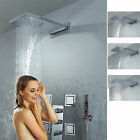 Luxury Thermostatic Wall Mounted Waterfall Rain Shower System with Body Sprays