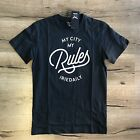 t-shirt IRIE DAILY my city typo tee NUOVO coal skate rap surf