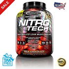 MuscleTech, NitroTech Whey Protein Powder, Whey Isolate and Peptides 1LB - 10LB