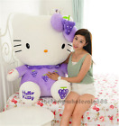 32'' Giant big hung hello kity cat purple plush soft toys dolls kids gifts 80cm