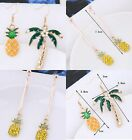 Pineapple Palm Tree diamante mis matched dangle party earrings