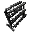 FXR SPORTS HEAVY DUTY COMMERCIAL HEX DUMBBELL DUMBBELLS STORAGE RACK GYM WEIGHTS