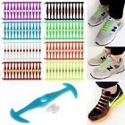 12Pcs Cool Elastic Silicone Easy No Tie Shoelaces Shoe Lace Set For Adults Kids