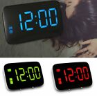 Large Screen LED Digital Alarm Snooze Clock Voice Control Time Display Home