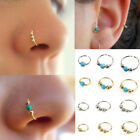 20G 0.8mm Turquoise Ball Nose Ring Hoop Lip Nipple Ear Cartilage Tragus Piercing