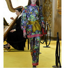 Occident Autumn/winter Modern Vintage printed fashion graceful pant sport suit