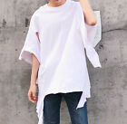 Men's Round Neck Short Sleeve Ripped T-shirt Destroyed Casual Tees Summer Tops