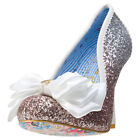 Irregular Choice Ascot Womens Silver Synthetic Casual Shoes Slip-on New Style
