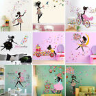 Girl & Flower Removable Wall Art Sticker Vinyl Decal DIY Room Home Mural Decor !