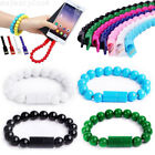Portable Wristband Beads Charging Cable Bracelet Sync Charger For iphone Android