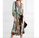 17 Autumn Occident v-neck color matching Printed Pressure plait cocktail dress