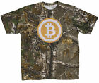 Men's Bitcoin Logo on Realtree Camo T-Shirt