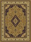 Persian Silk Rugs Gold 8x10 Hand Knotted Fringes 5x8 Traditional Rug Runners