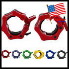"""2"""" Pair Lock Jaw Collars Olympic Barbells Muscle Clamps Bar"""
