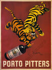 Porto Pitters vintage wine poster repro 24x32