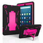 2017 New Amazon Fire 7 7th Gen Hybrid Heavy Duty Kickstand Hard Soft Case Cover