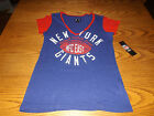 NEW YORK GIANTS NFL TEAM APPAREL WOMENS SHORT SLEEVE SHIRT L-XL on eBay