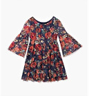 Rare Editions Girls' Dress Floral-Print on Navy Blue Lace Sizes 7 8 10 12 14 16