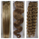 "USPS 15-36"" Real Soft Weft Human Hair Extensions Straight Wavy #16 Ash Blonde"