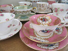 VARIATION OF GORGEOUS MIS-MATCH VINTAGE CHINA TEACUPS ~ WEDDING ~ TEA PARTY