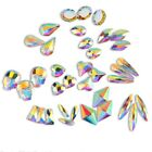 20 50 100pcs 3D Nail Art Rhinestones Flat Shaped Elongated Glass Colorful Stones