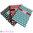 A4 A5 A6 Polka Dot Lined Hardback Notepad Notebook Note Book Notes Journal Diary
