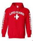 NW MEN'S LIFEGUARD PULLOVER HOODIE JACKET BEACH SAFETY POOL STAFF SWEATSHIRT RED $27.54 USD on eBay