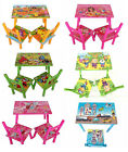 Children Kids Wooden Table and Chairs Set Multi Designs Boys Girls Toddlers