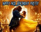 Beauty and the Beast Personalized Edible Print Cake Topper Frosting Sheet 5 Size
