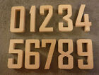 "Complete Set of Numbers 0-9,  Agency FB 5 to 7"" inch number sign, wood numbers"