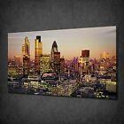 BEAUTIFUL SUNSET OVER CITY OF LONDON BOX CANVAS PRINT WALL ART PICTURE