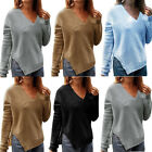 Women Casual Long Sleeve Knitted Pullover Loose Sweater Jumper Tops Knitwear USA