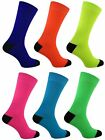 12 Mens Black Heel & Toe Neon Teddy Boy Fancy Dress Party Socks UK 6-11