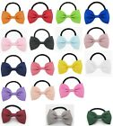 "2+1 FREE 12pcs 2.8"" 7cm Hair Bow Tie Elastic Bands Grosgrain Ribbon Eco Quality"