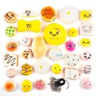5/10/20/30PCS Kawaii Squishy Lot Toast Bread Cell Phone Stra