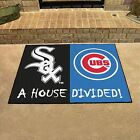 HOUSE DIVIDED MAT - CHOOSE YOUR FAVORITE MLB RIVALS!