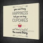 YOU CAN'T BUY HAPPINESS INSPIRATIONAL BOX CANVAS PRINT WALL ART PICTURE