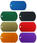 100 Pack ArmyUniverse Military GI ID Dog Tags Aluminum Color Dogtags Wholesale