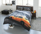 Duvet Cover Bedding Set & Pillowcase New York Taxi Yellow Cab Single Double King