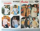 Crochet LADIES Outfits, Jumpers & Tops Patons 450 & 476 - Choice 2 Books CrAC