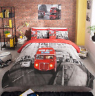 London Bus Bedding Set Duvet Quilt Cover Set With Pillowcase Single Double King